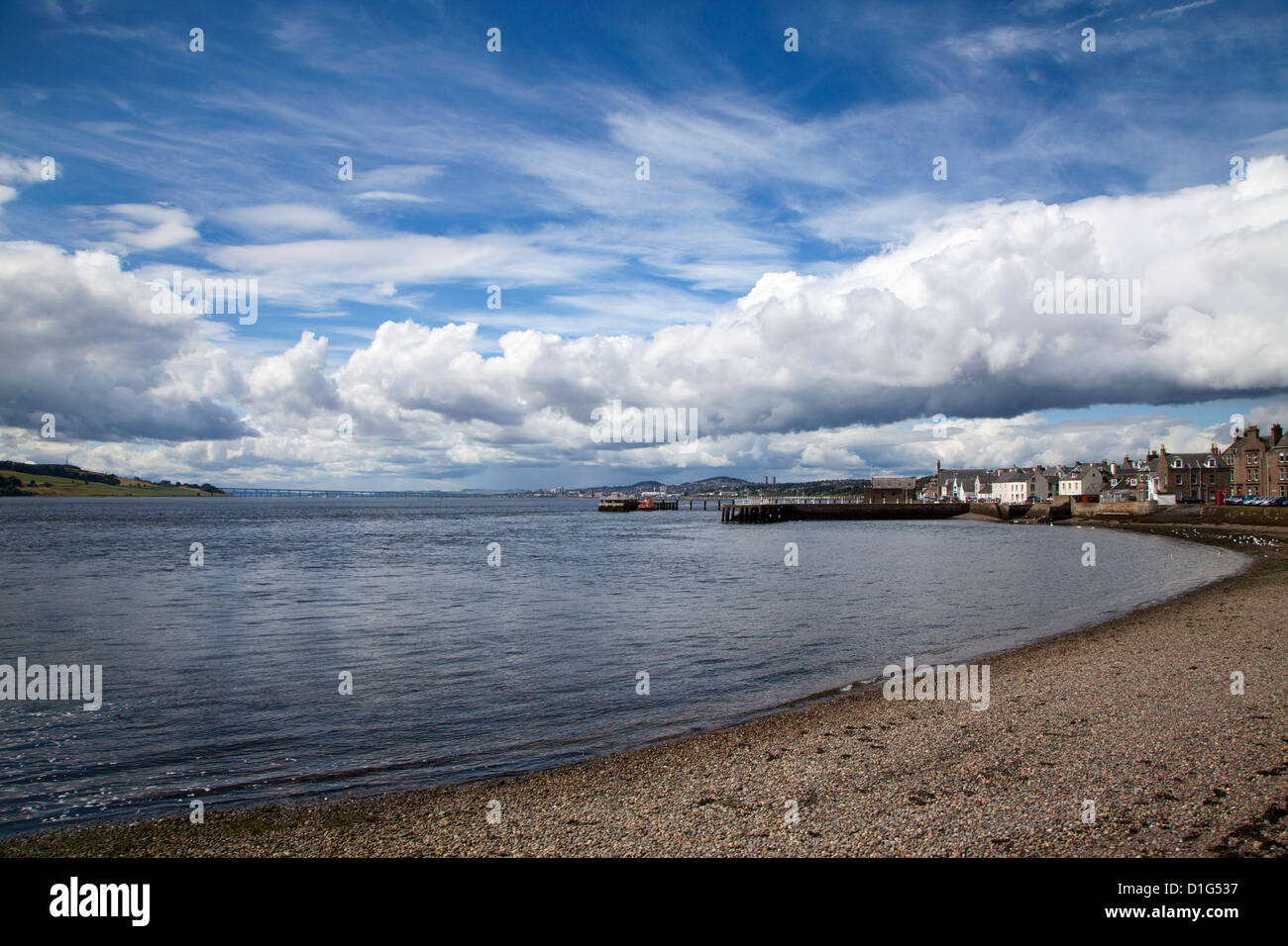 Clearing storm at Broughty Ferry, Dundee, Scotland, United Kingdom, Europe - Stock Image