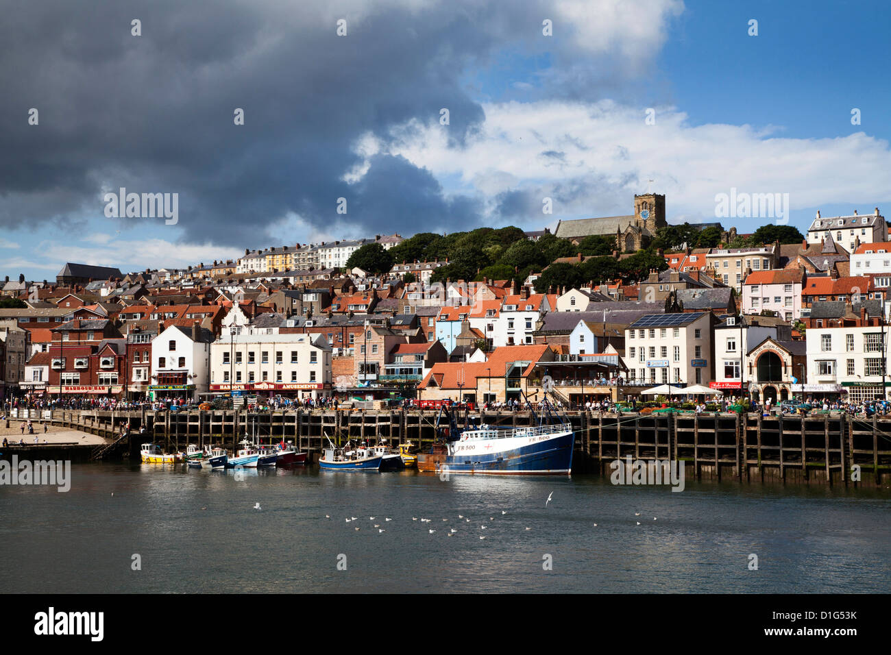 The Harbour at Scarborough, North Yorkshire, Yorkshire, England, United Kingdom, Europe - Stock Image