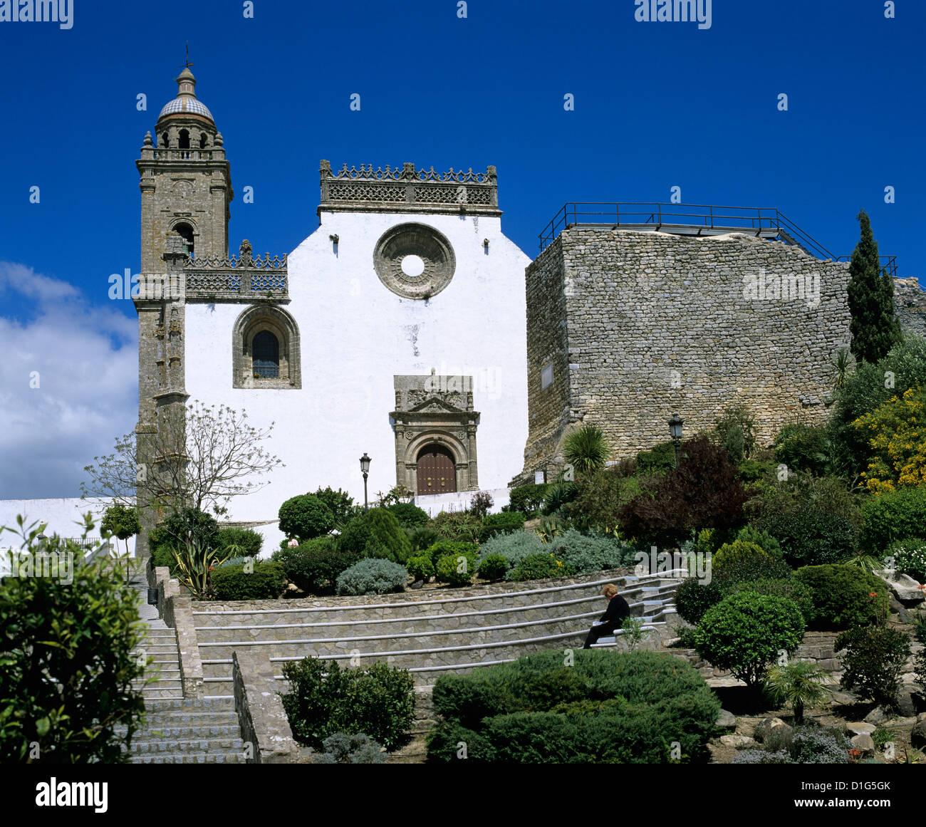 Plaza Iglesia Mayor and the church of Santa Maria la Coronada, Medina Sidonia, Andalucia, Spain, Europe - Stock Image