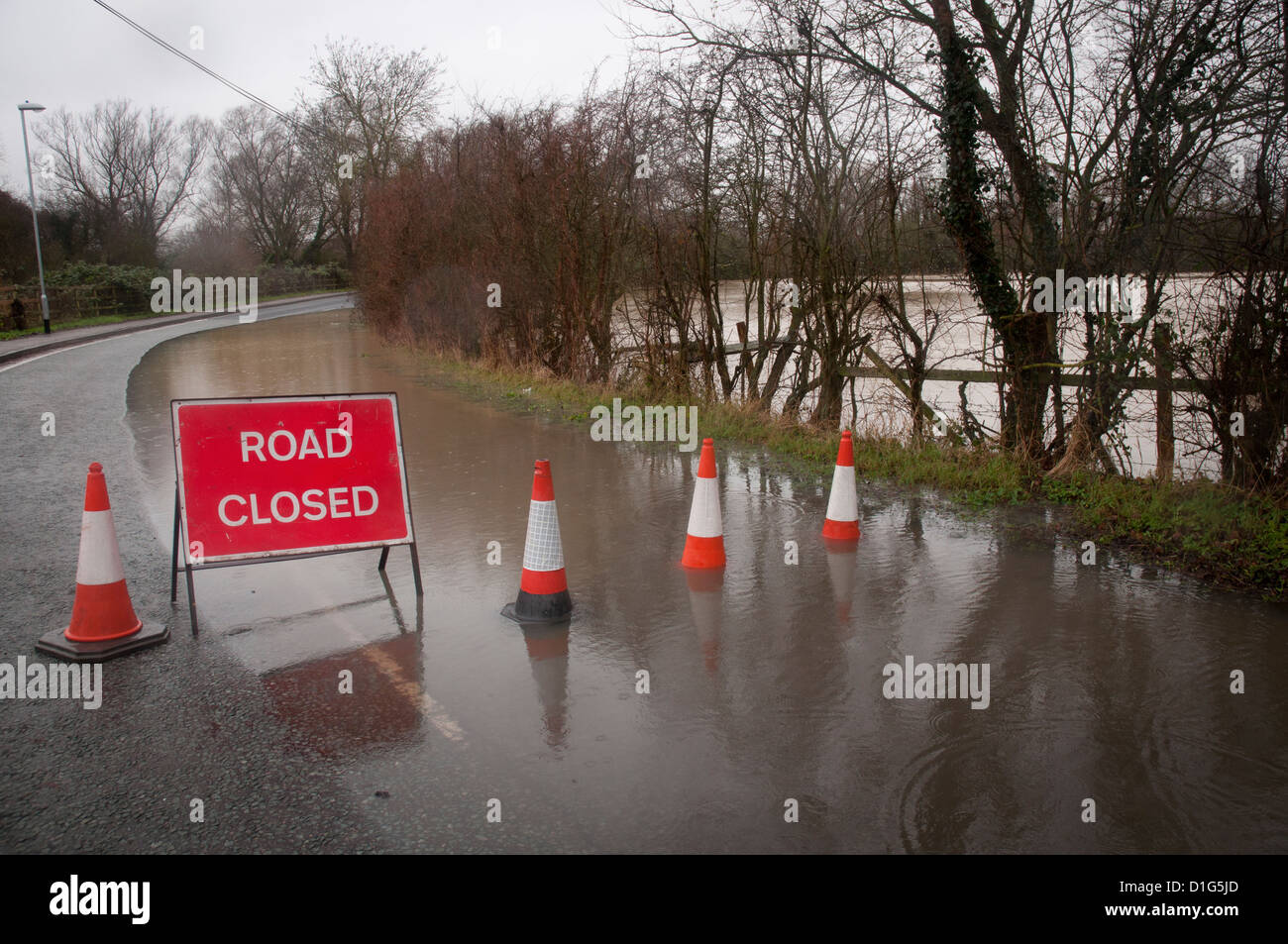 Flooded Road - Stock Image