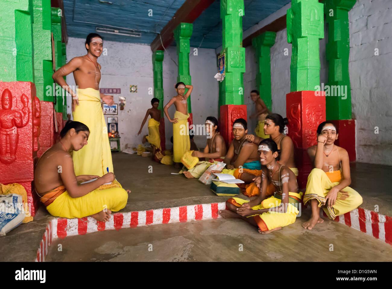 Young boys training to become Brahmin priests, Madurai