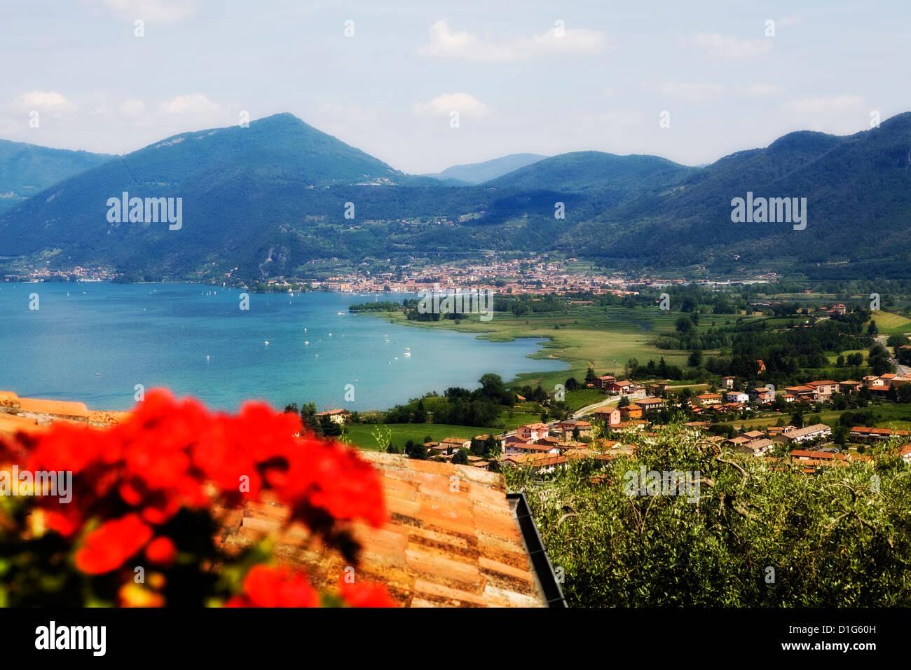 Lago d'Iseo, Brescia/Bergamo, Italy - Stock Image