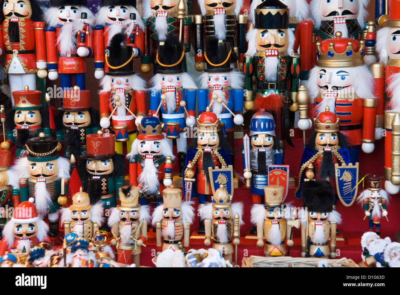 traditional german wooden christmas decorations berlin germany europe stock image