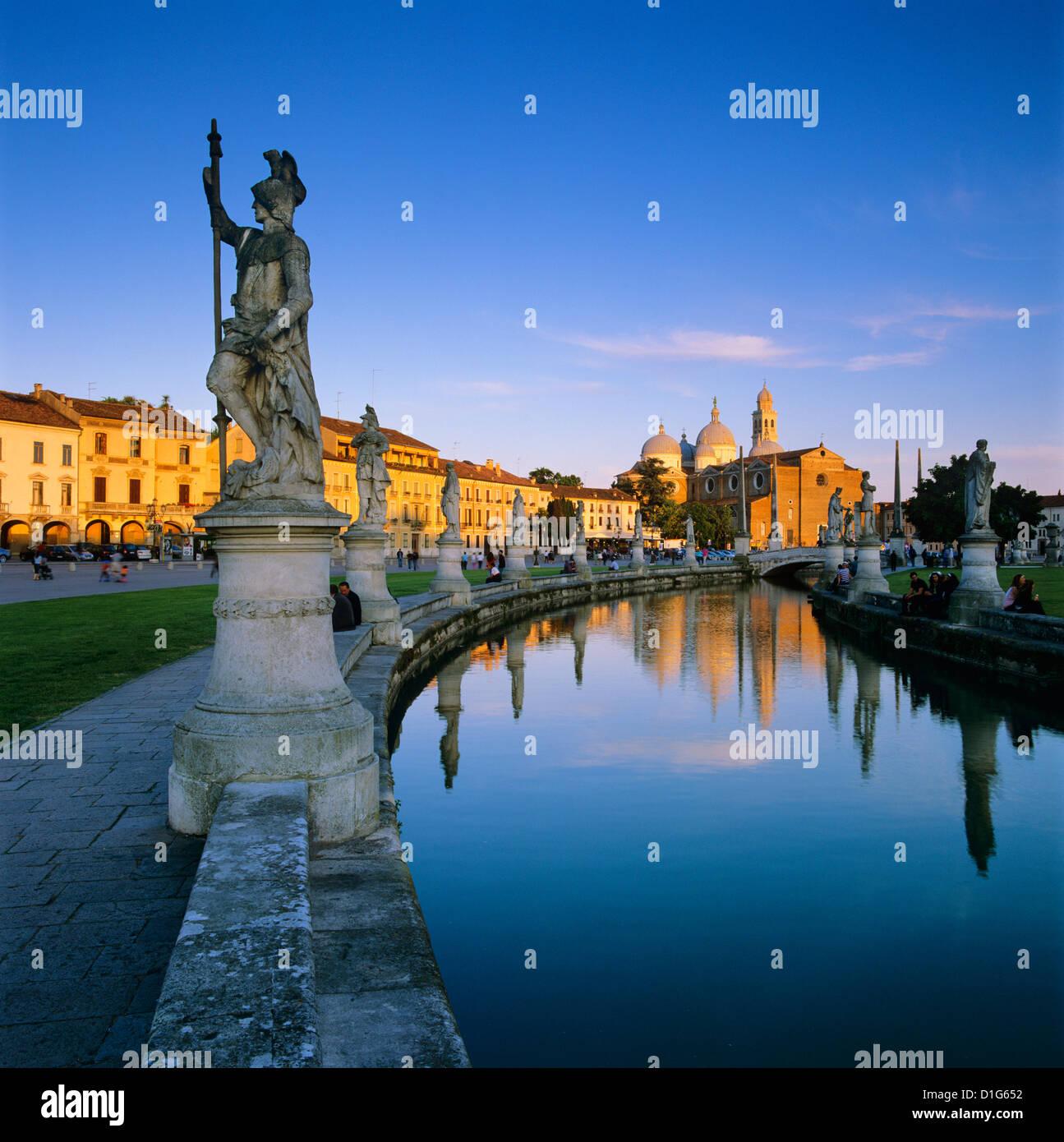Prato della Valle and Santa Giustina, Padua, Veneto, Italy, Europe - Stock Image