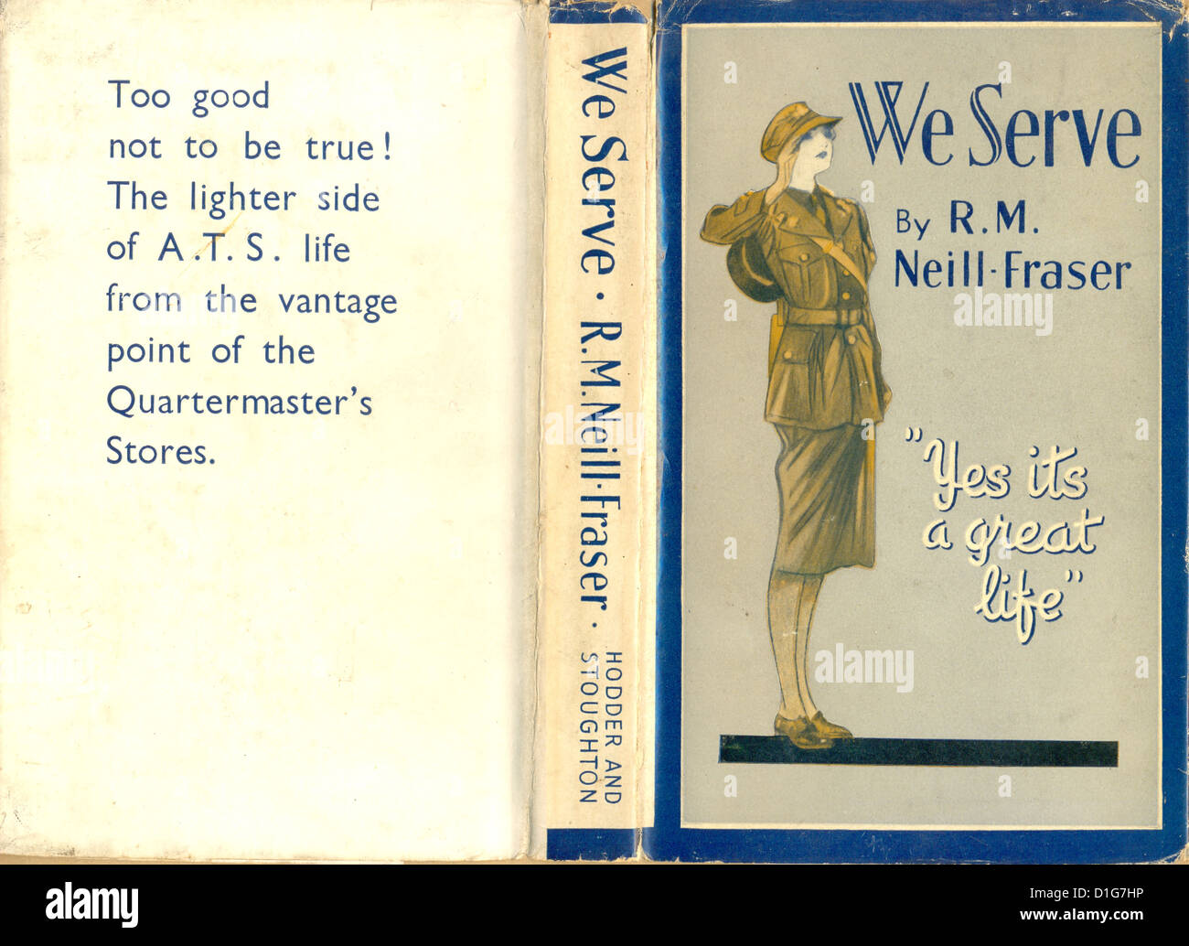 Book jacket for We Serve by R M Neill-Fraser - Stock Image