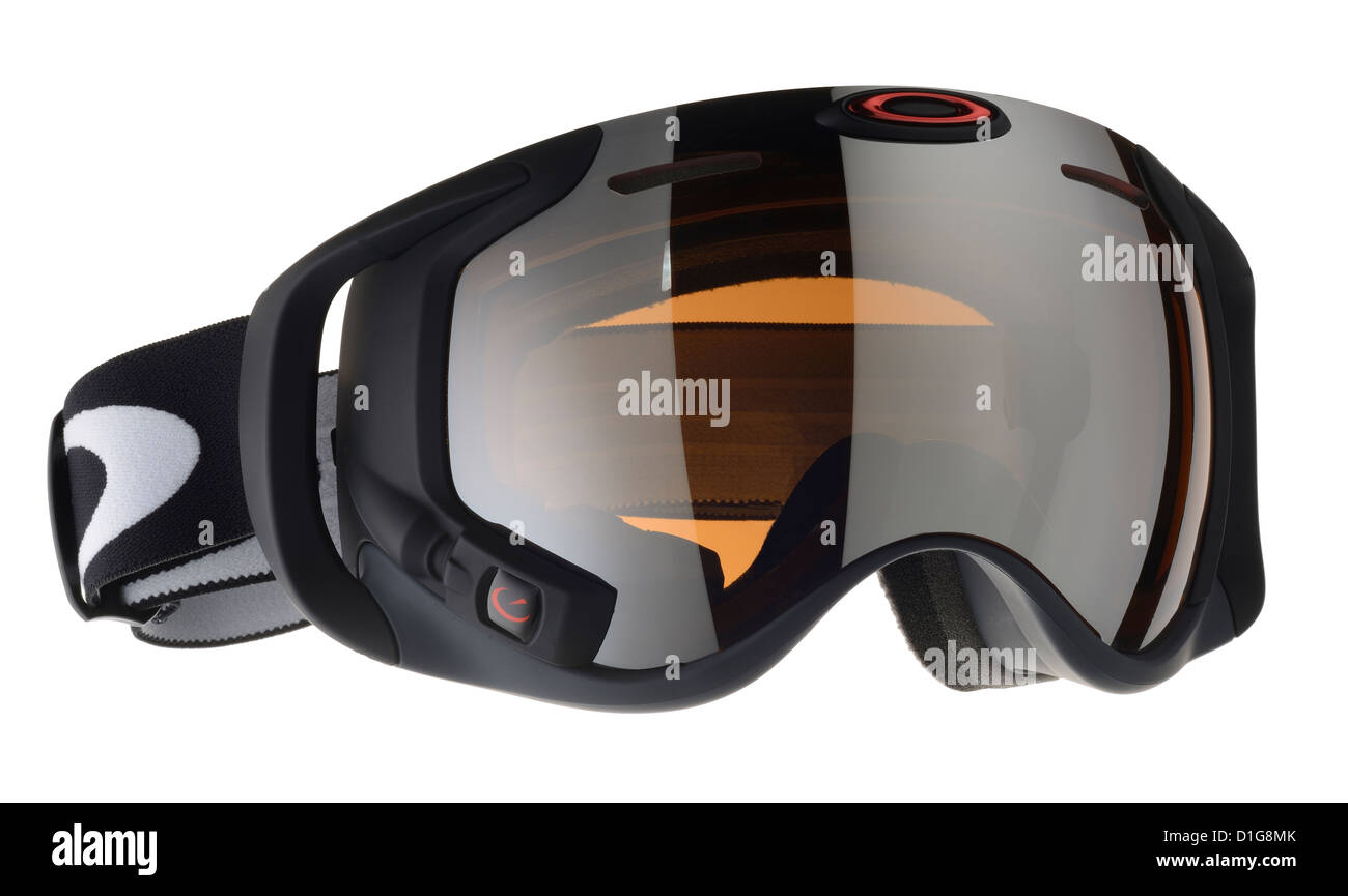 Oakley ski goggles with internal screen/display. - Stock Image