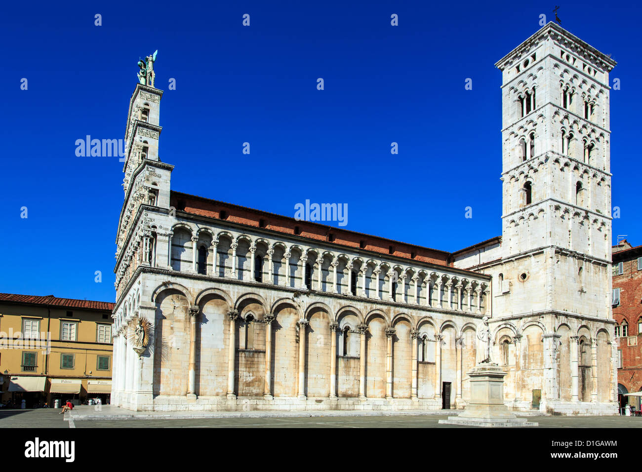 San Michele in Foro church, Lucca, Tuscany, Italy - Stock Image
