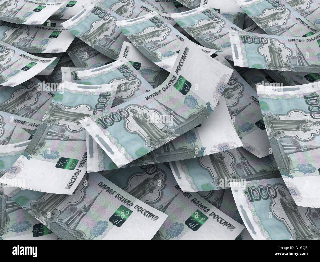 Russian roubles currency background - Stock Image