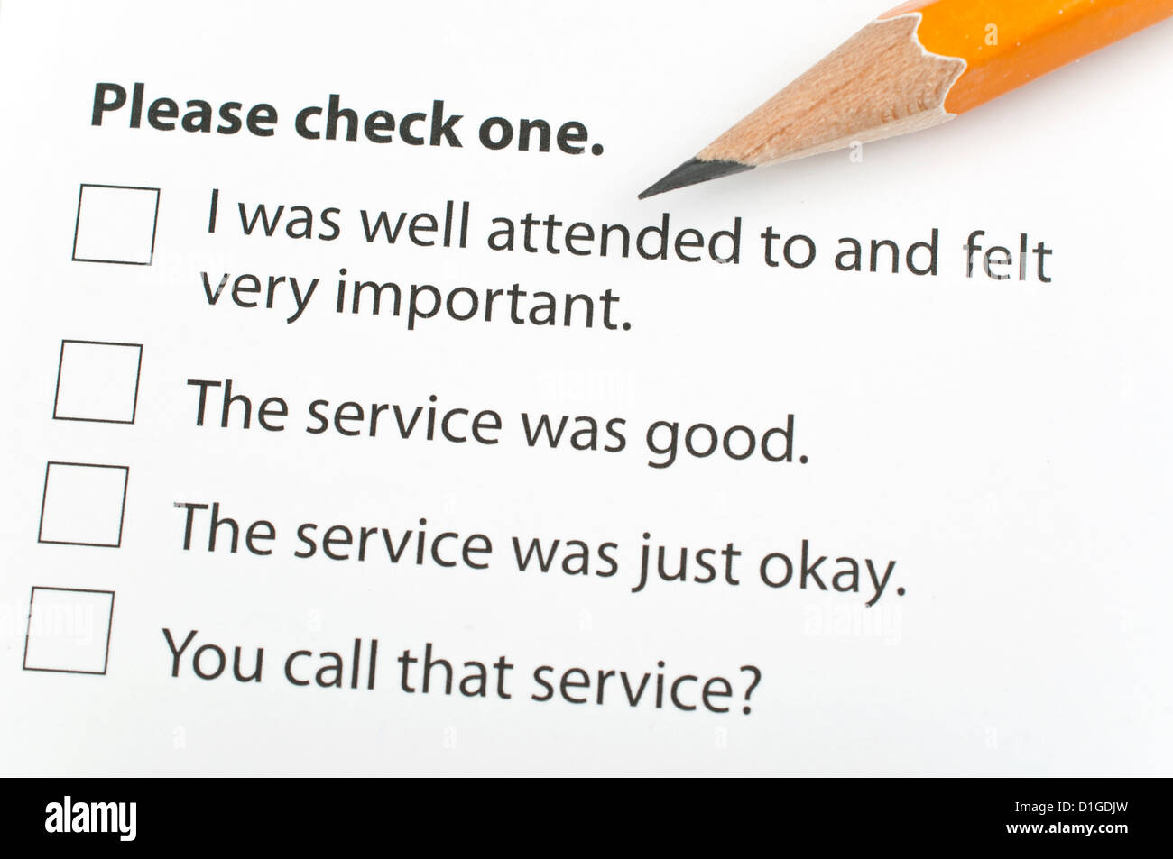 the office customer survey