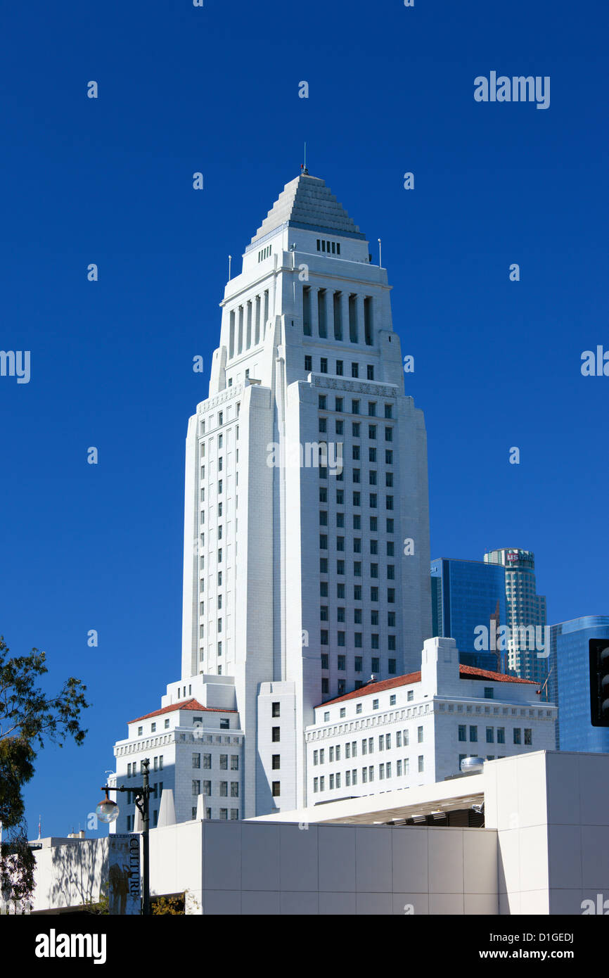 City Hall in Los Angeles, California, USA. - Stock Image