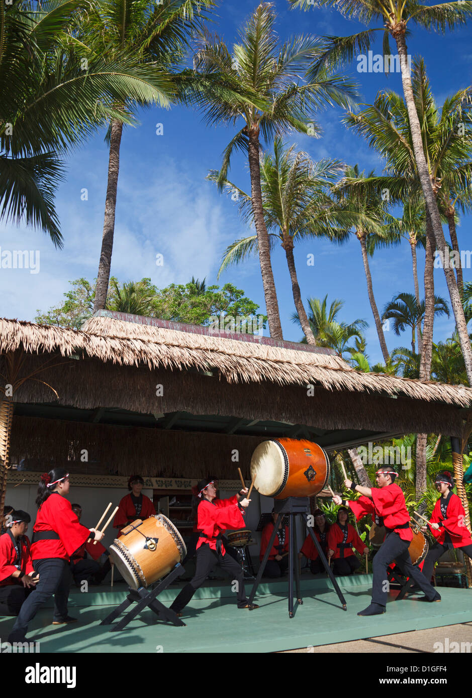 Taiko Drummers Perform At The Kaanapali Beach Hotel During
