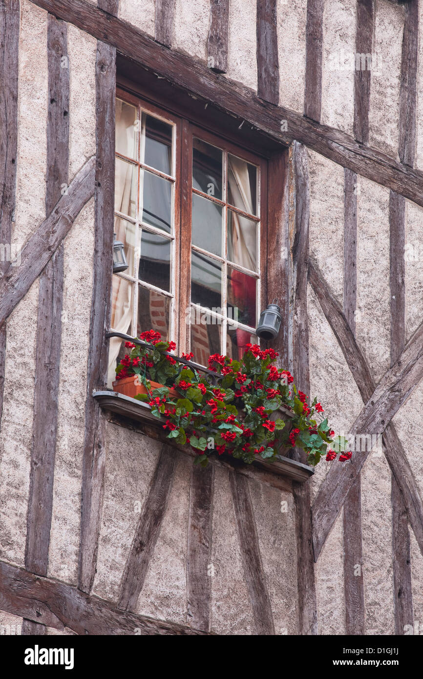 A house in Vieux or Old Tours, Loire Valley, Tours, Indre-et-Loire, France - Stock Image
