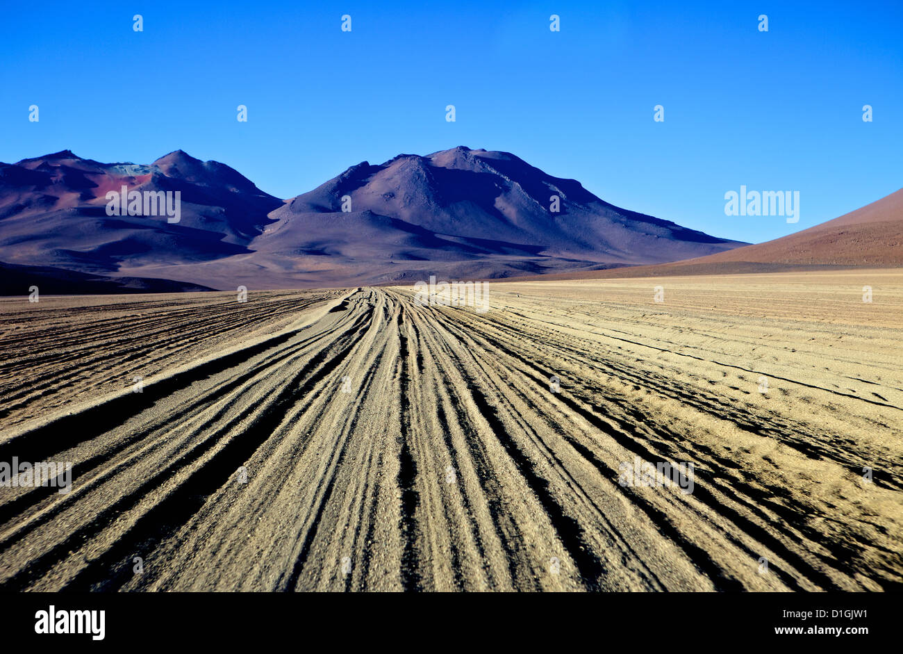 Salvador Dali Desert  Dali Valley (Valle de Dali), Southwest Highlands, Bolivia, South America - Stock Image