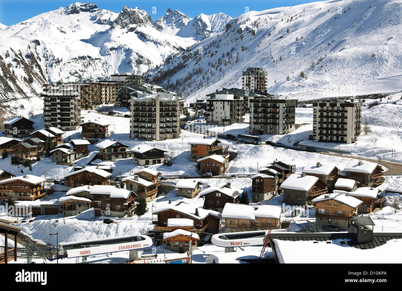 Tignes-le-Lac, Tignes, Savoie, Rhone-Alpes, French Alps, France, Europe Stock Photo