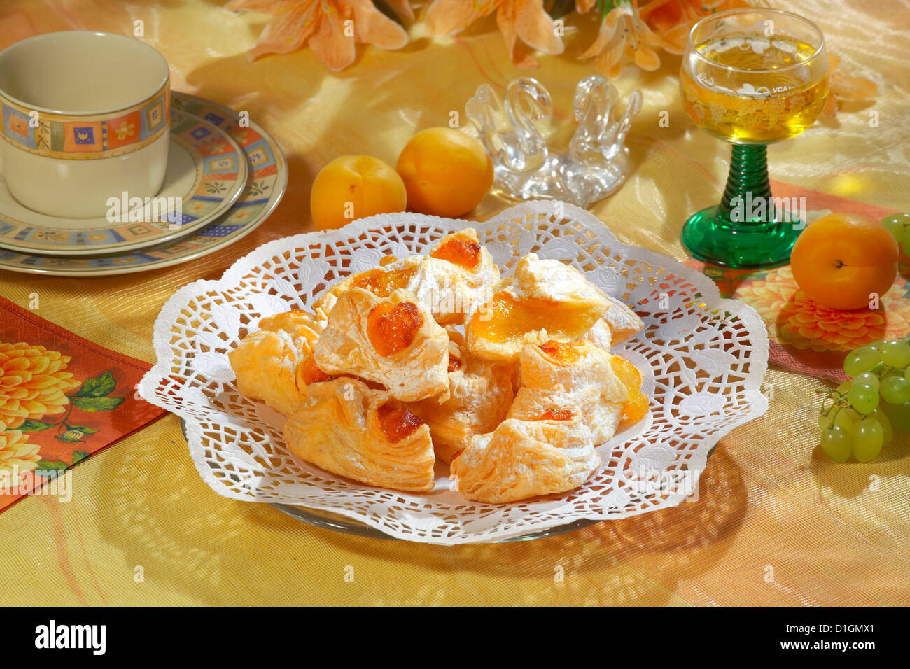 Apricot Cookies - Stock Image