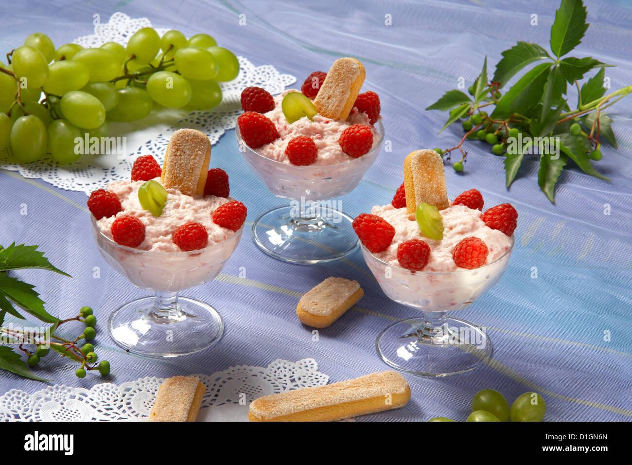 Mousse Fruit - Stock Image