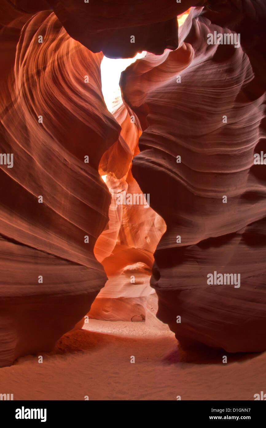 Upper Antelope Canyon (Tse' bighanilini), LeChee Chapter, Navajo Nation, Arizona, United States of America, - Stock Image