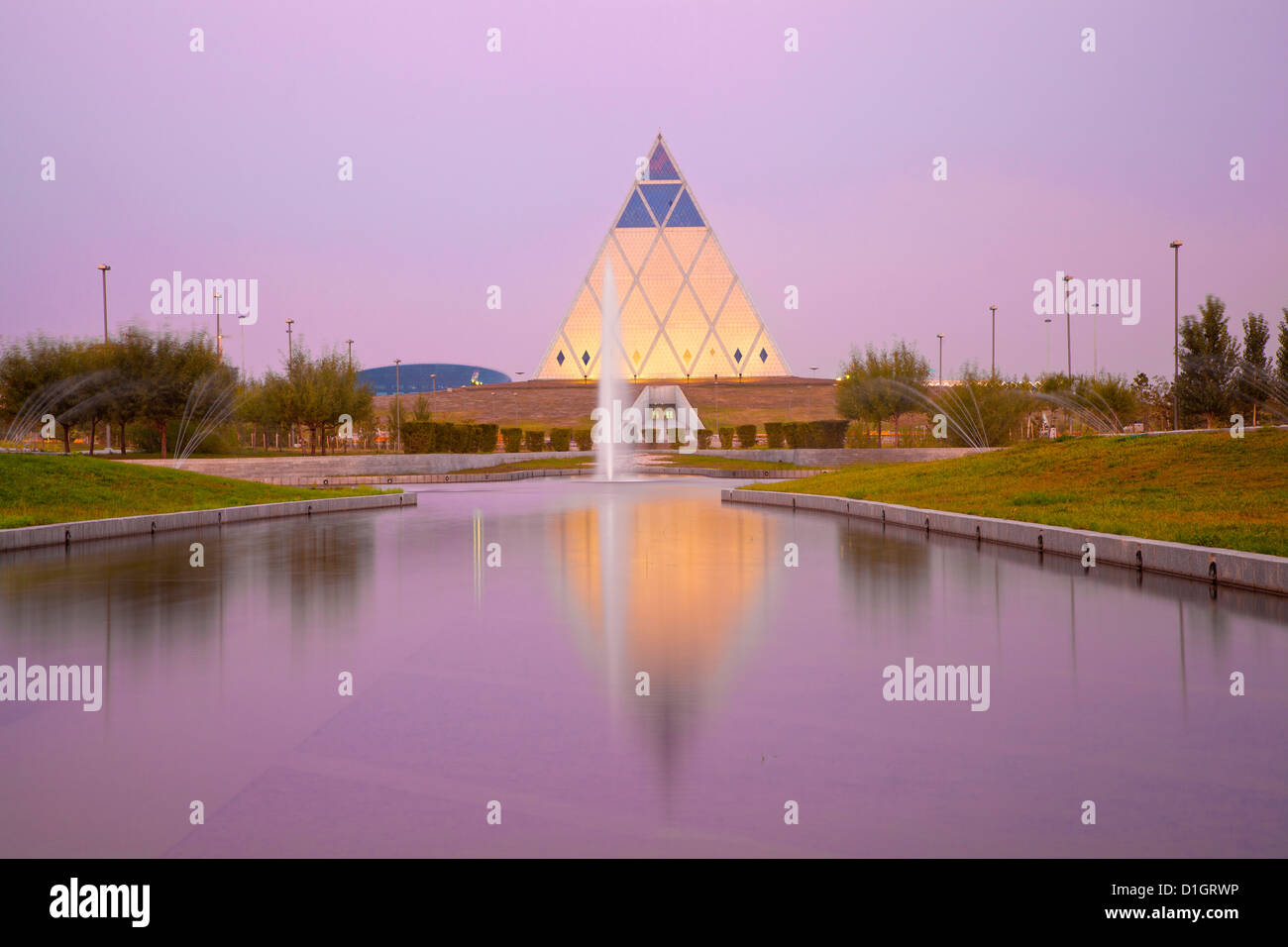 Palace of Peace and Reconciliation pyramid designed by Sir Norman Foster, Astana, Kazakhstan, Central Asia, Asia - Stock Image