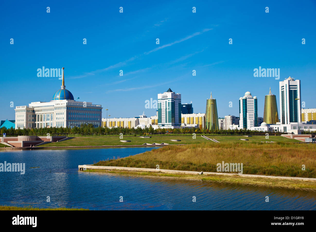 View of city, Astana, Kazakhstan, Central Asia, Asia - Stock Image