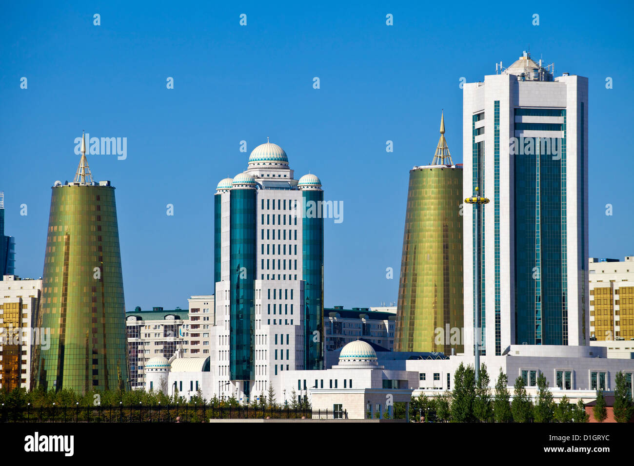 City skyline, Astana, Kazakhstan, Central Asia, Asia - Stock Image