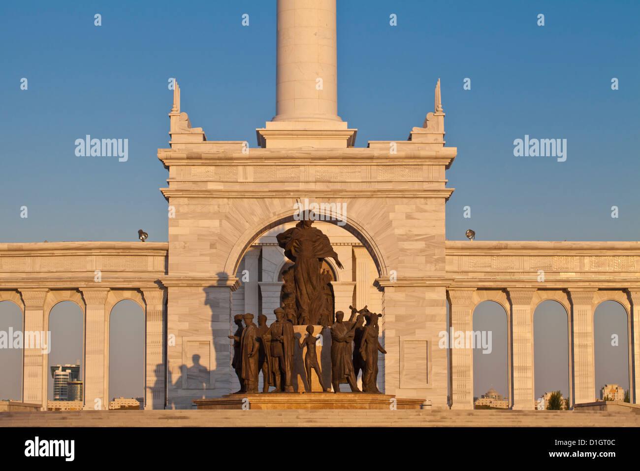 KazakYeli monument (Kazakh Country). Astana, Kazakhstan, Central Asia, Asia - Stock Image