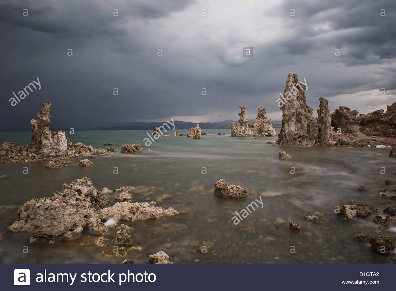 Mono Lake, Eastern Sierra, California, United States of America, North America - Stock Image