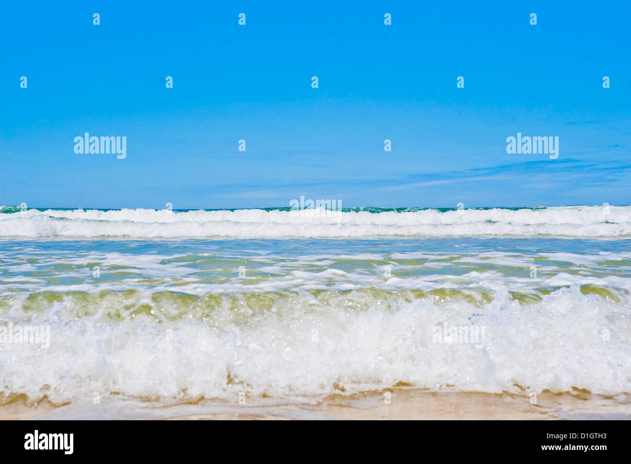 Tropical paradise of Seventy Five Mile Beach, Fraser Island, UNESCO World Heritage Site, Queensland, Australia, - Stock Image