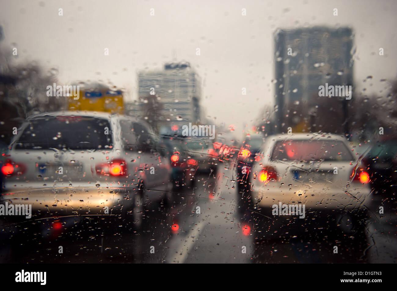 Berlin, Germany, a traffic jam on the Ott-Suhr-all before the Ernst-Reuter-Platz Stock Photo