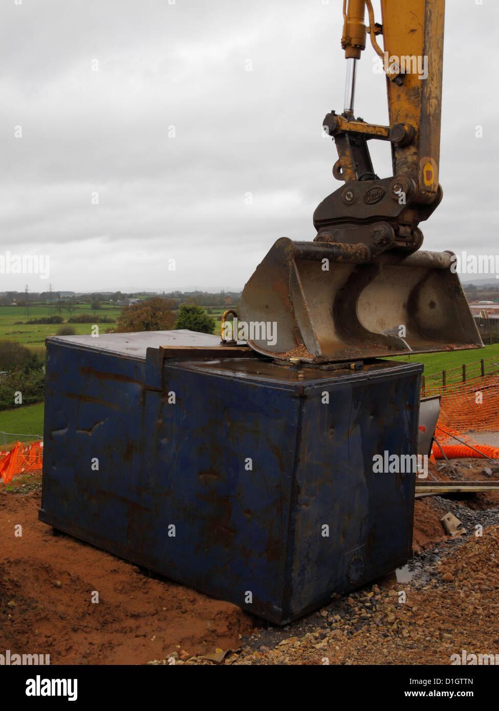 Digger Gas Tank : Digger bucket stock photos images