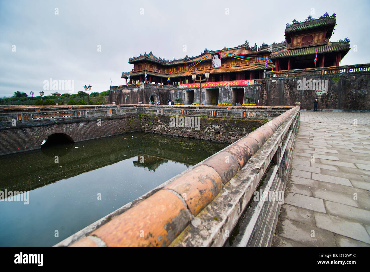 Hue Citadel Gates, The Imperial City, Hue, UNESCO World Heritage Site, Vietnam, Indochina, Southeast Asia, Asia - Stock Image