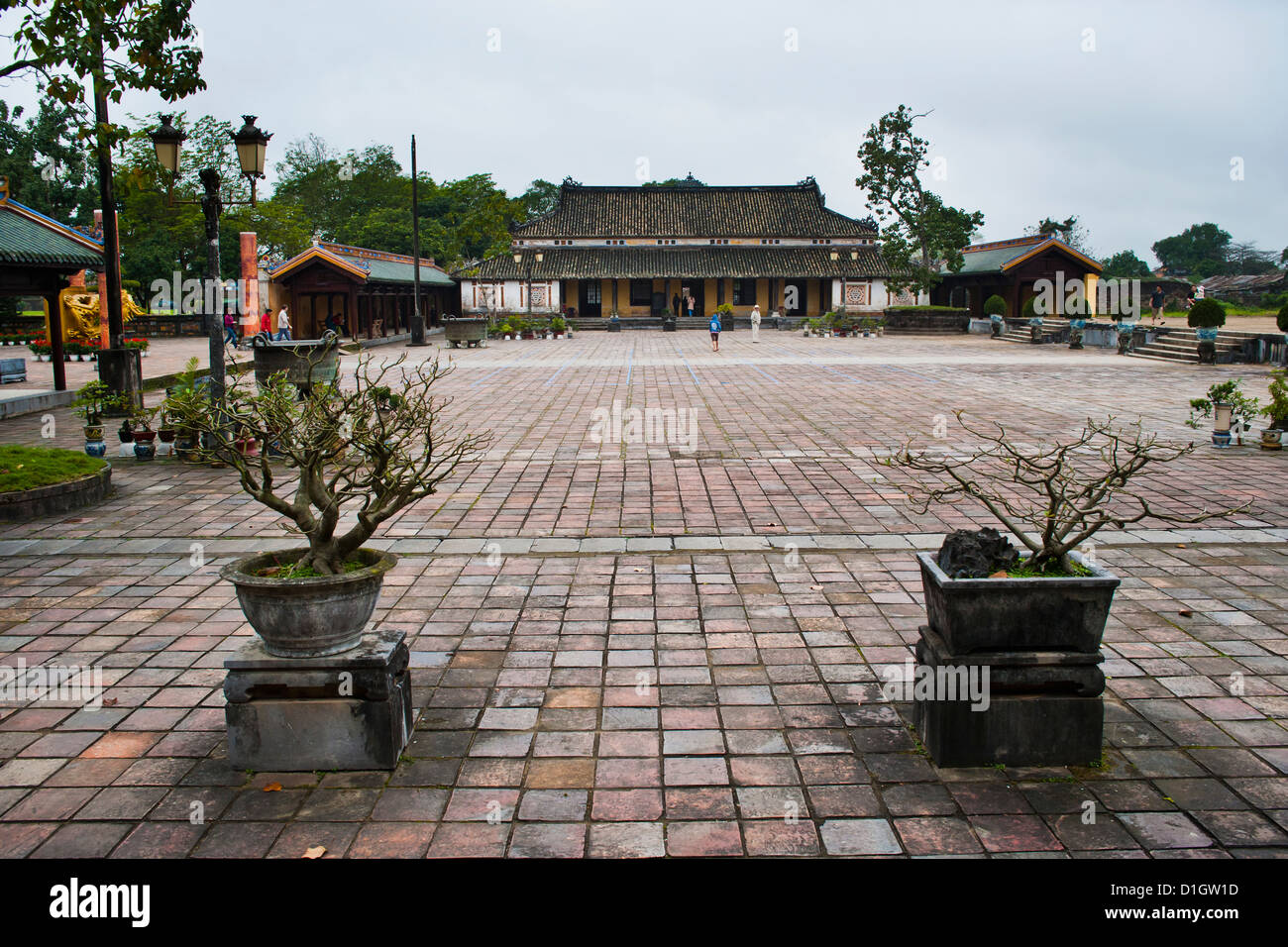 Old building in Hue Citadel, The Imperial City, Hue, UNESCO World Heritage Site, Vietnam, Indochina, Southeast Asia, - Stock Image
