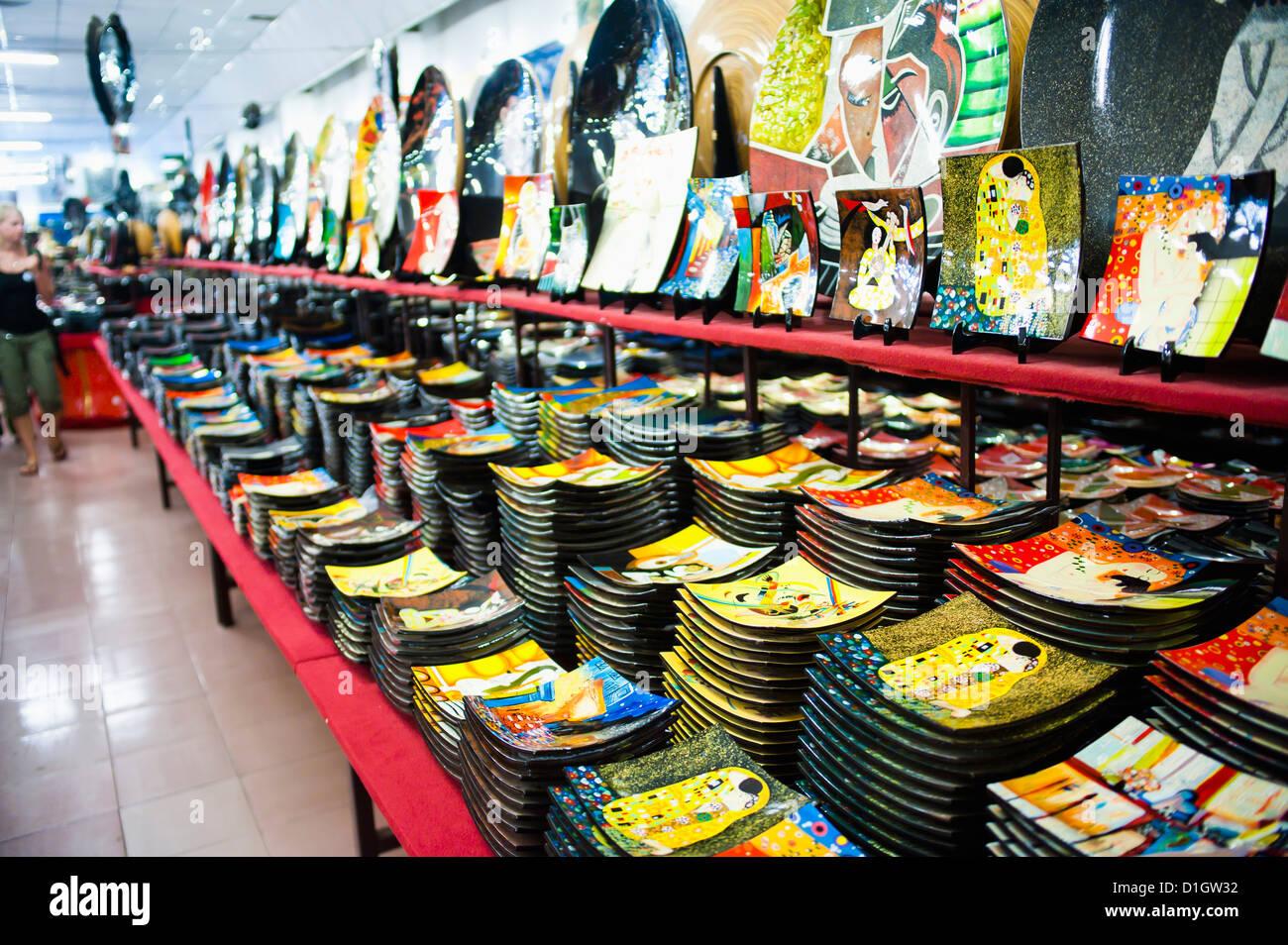 Souvenir shop in Ho Chi Minh City (Saigon), Vietnam, Indochina, Southeast Asia, Asia - Stock Image