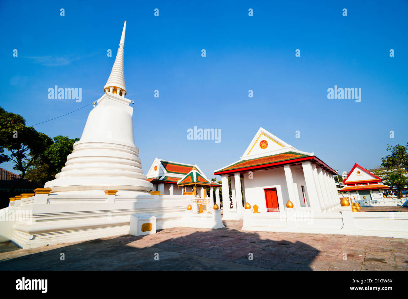 Wat Mani Chonlakhan, a Buddhist Temple in Lop Buri, Thailand, Southeast Asia, Asia - Stock Image