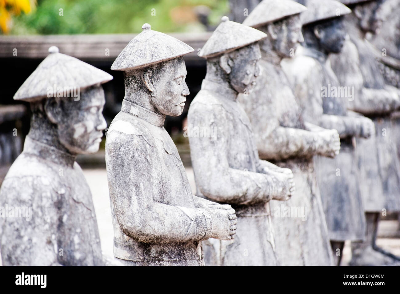 Stone statues at Tomb of Khai Dinh, Hue, UNESCO World Heritage Site, Vietnam, Indochina, Southeast Asia, Asia - Stock Image