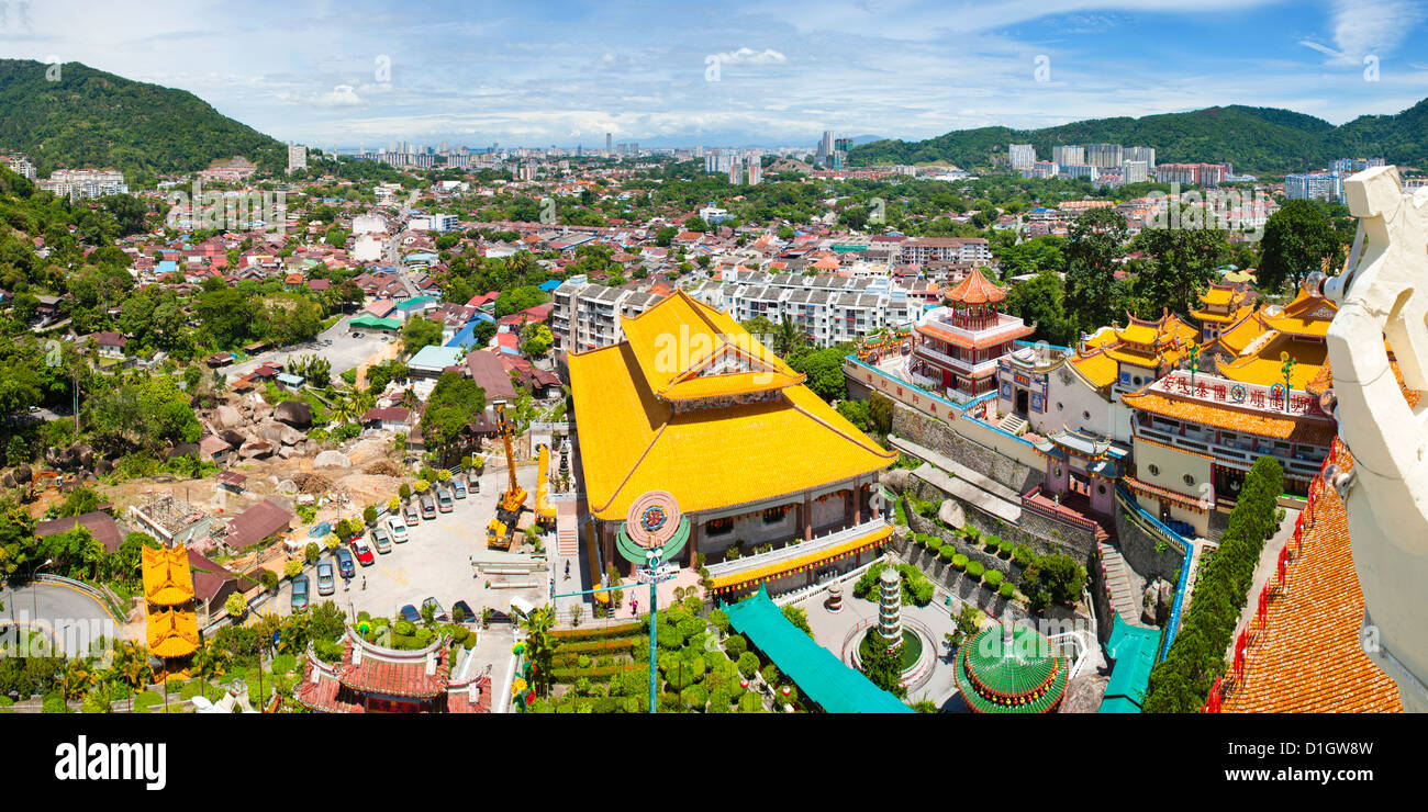View over George Town from Kek Lok Si Temple, Penang, Malaysia, Southeast Asia, Asia - Stock Image