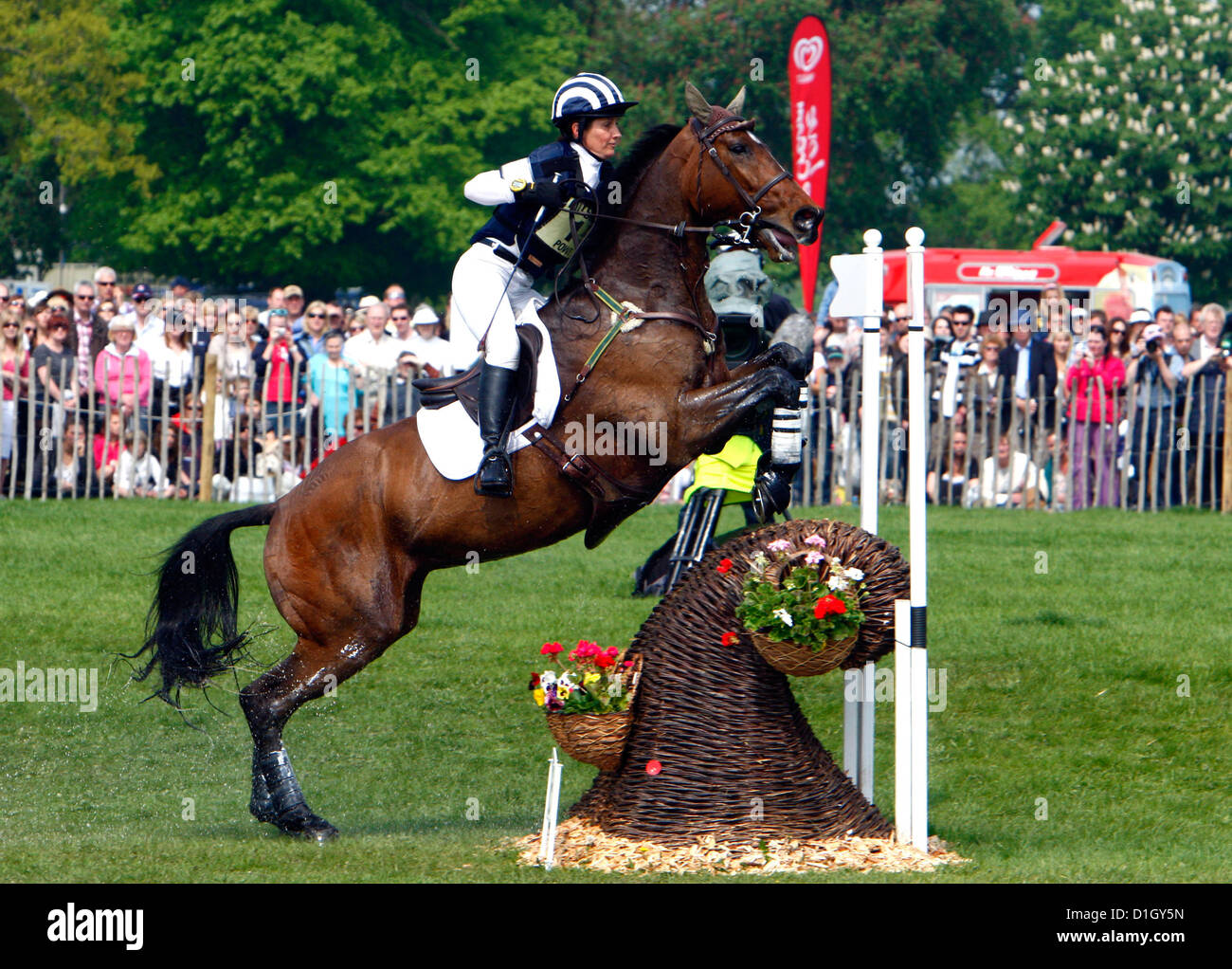 24.04.2011 Carroll Powell ( New Zealand ) on Boston Two at Badminton Horse Trials Credit James Galvin - Stock Image