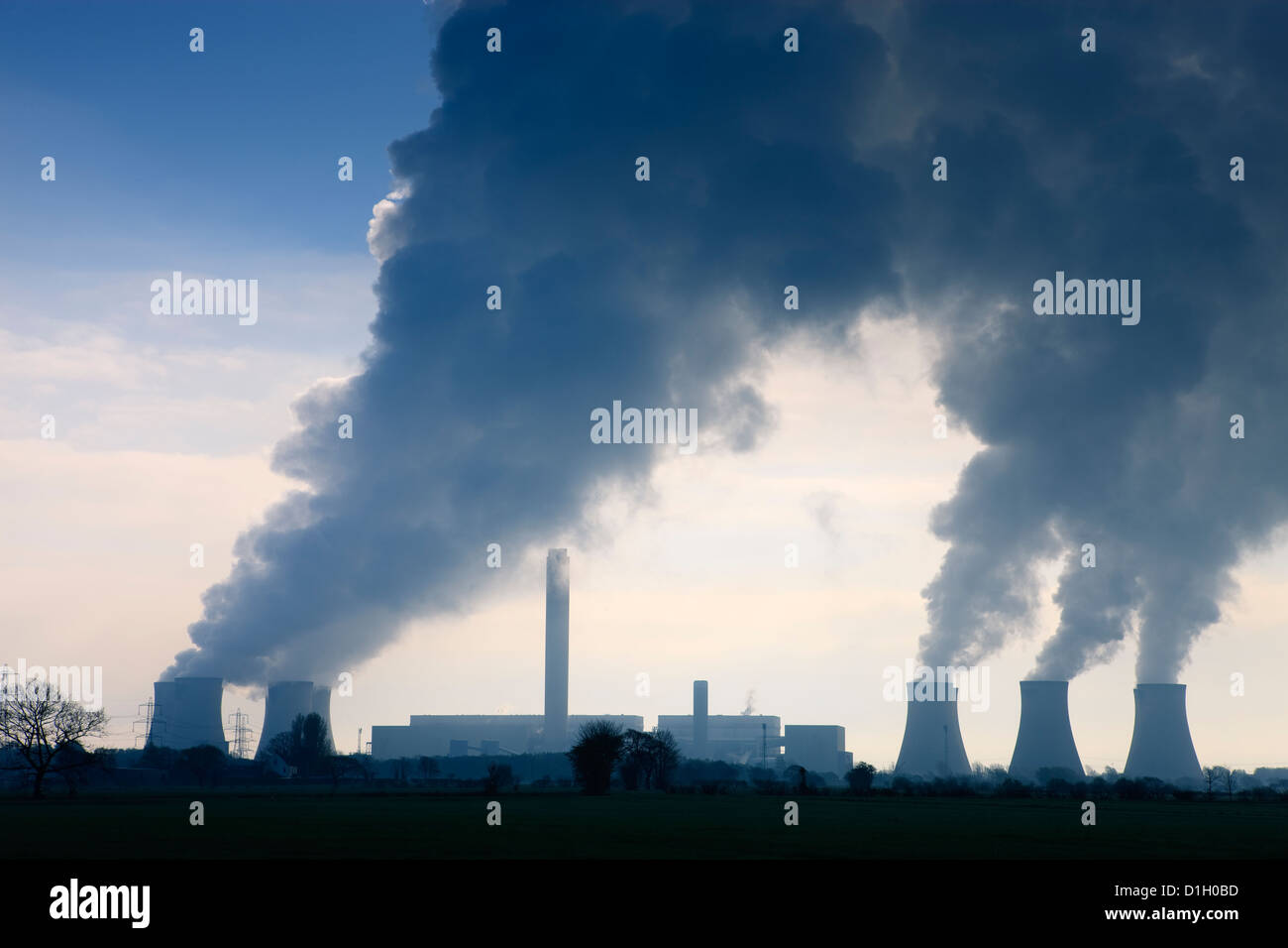 Eggborough Power Station Knottingley North Yorkshire England - Stock Image