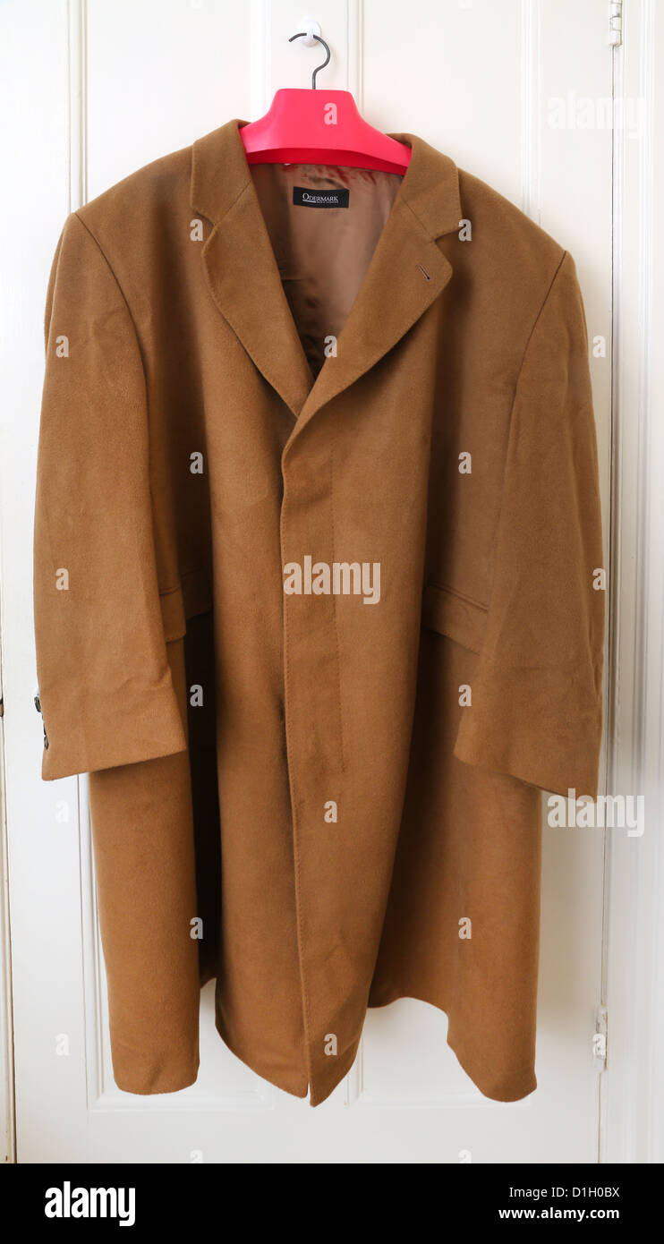 Odermark Men Fashion Coat Hanging On Door - Stock Image