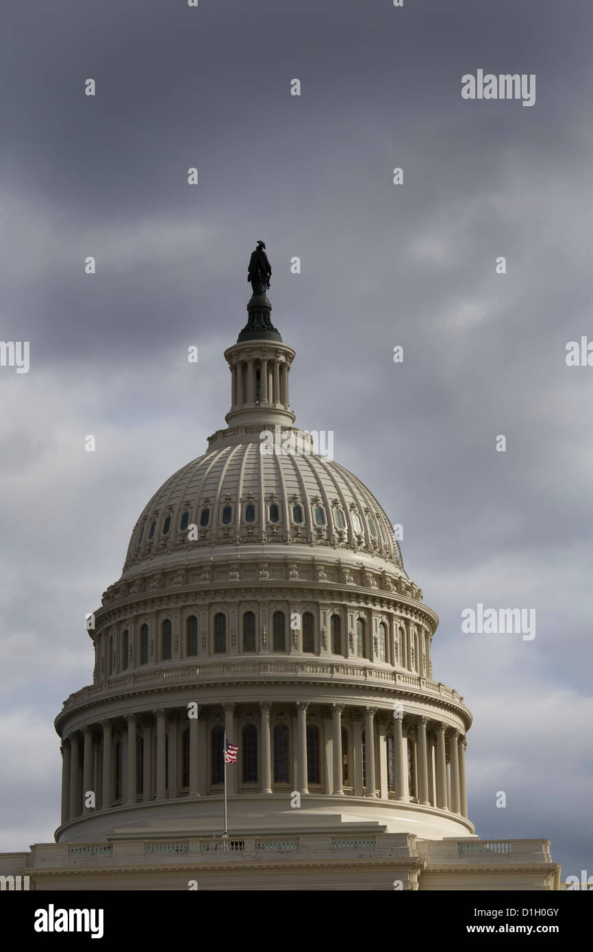 Washington, DC - The dome of the U.S. capitol building. - Stock Image