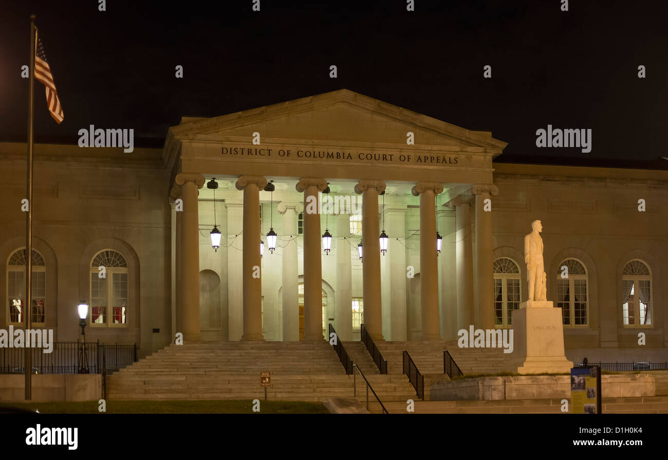 Washington, DC - The District of Columbia Court of Appeals, in the building that formerly was DC City Hall. - Stock Image