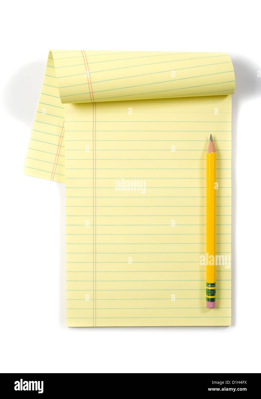 Legal Notepad Isolated on White - Stock Image
