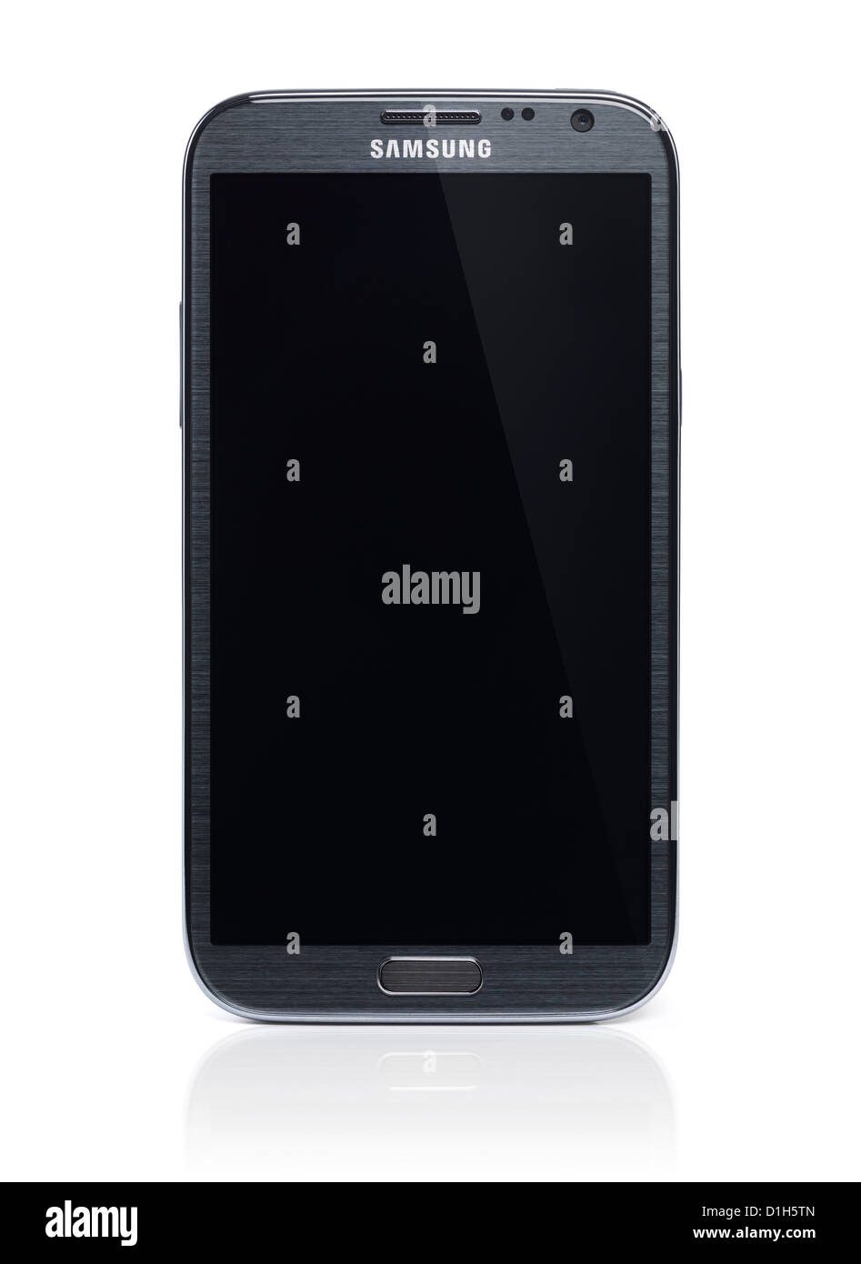 Samsung Galaxy Note 2 smartphone Android phone isolated on white background with clipping path - Stock Image