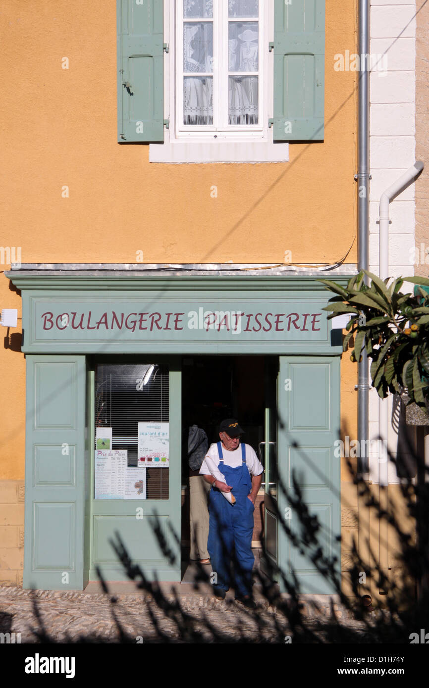 Boulangerie in the village of Villars in Provence - Stock Image
