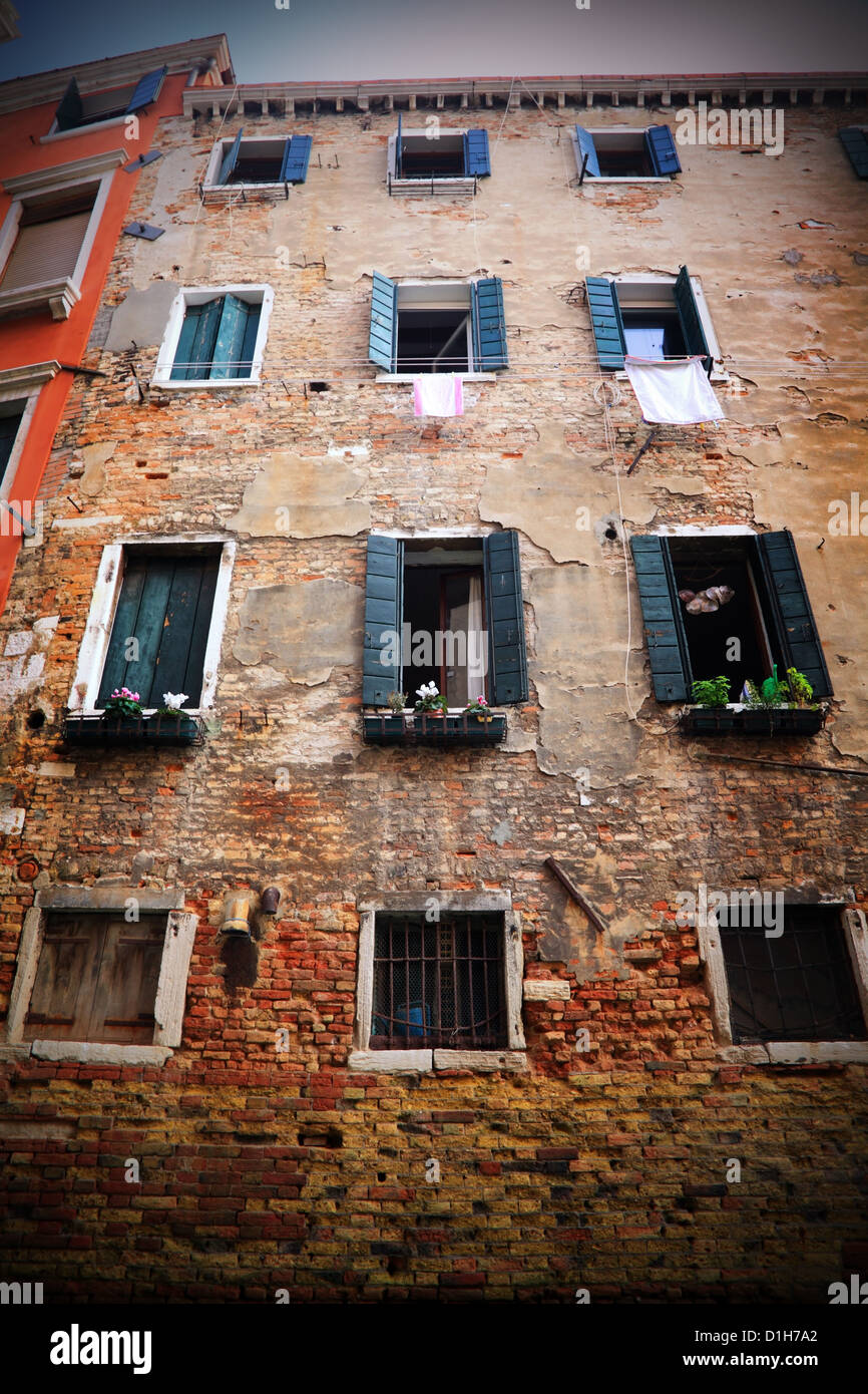 Old house in Venice, Italy - Stock Image