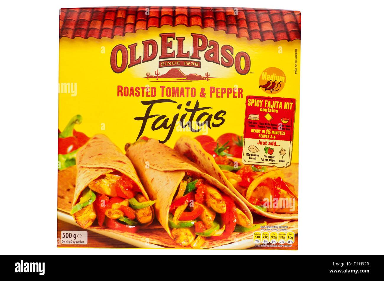 Box Of Old El Paso Fajitas Mexican Food Stock Photo