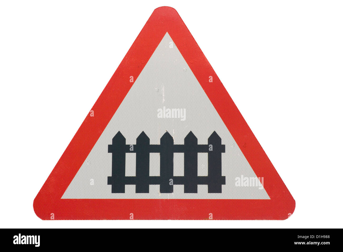 Level Crossing Road Sign - Stock Image