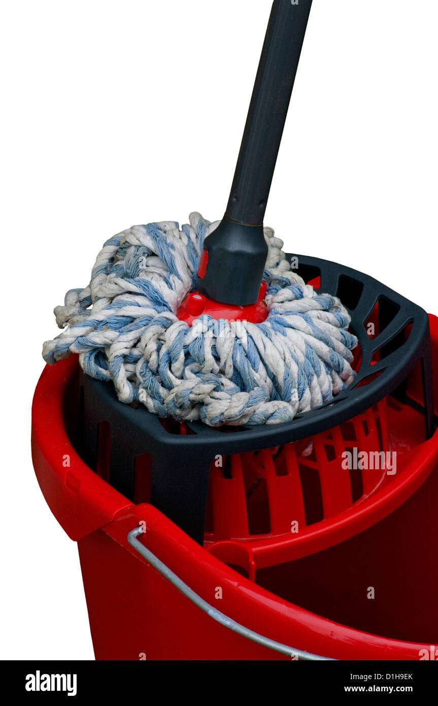 Floor Mop and Bucket - Stock Image