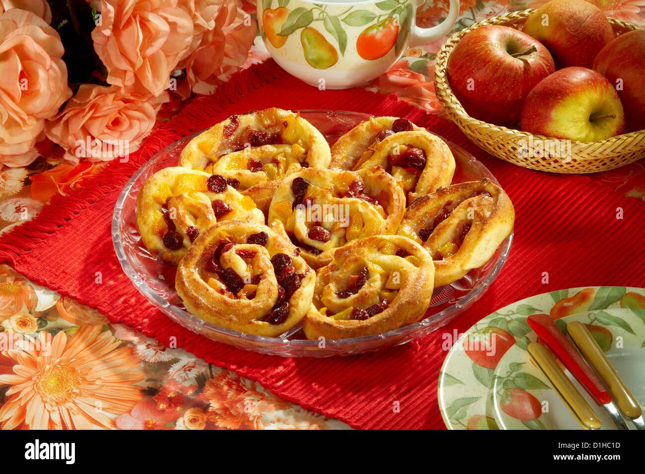 Cookies with cherries - Stock Image