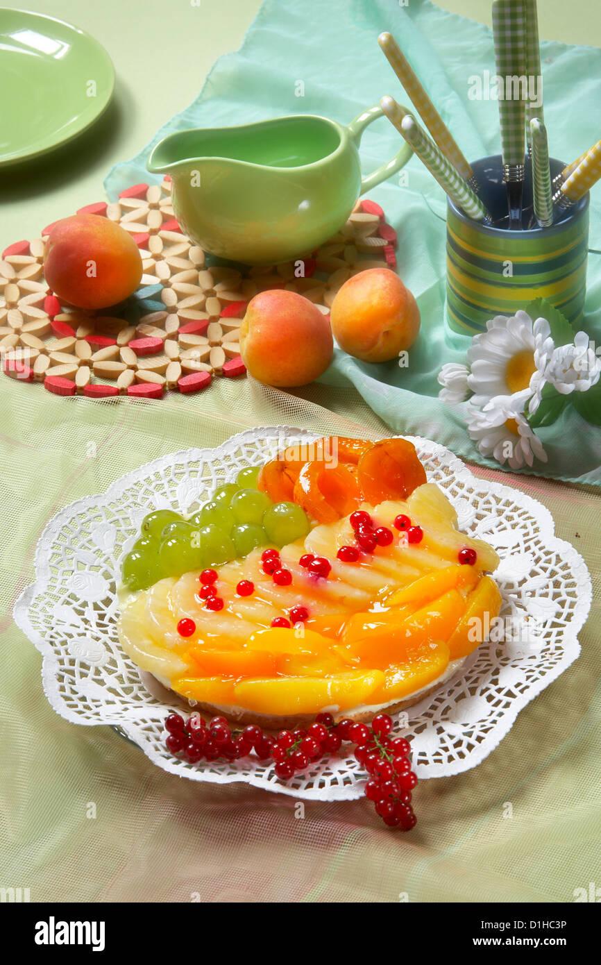 Fruit tart - Stock Image
