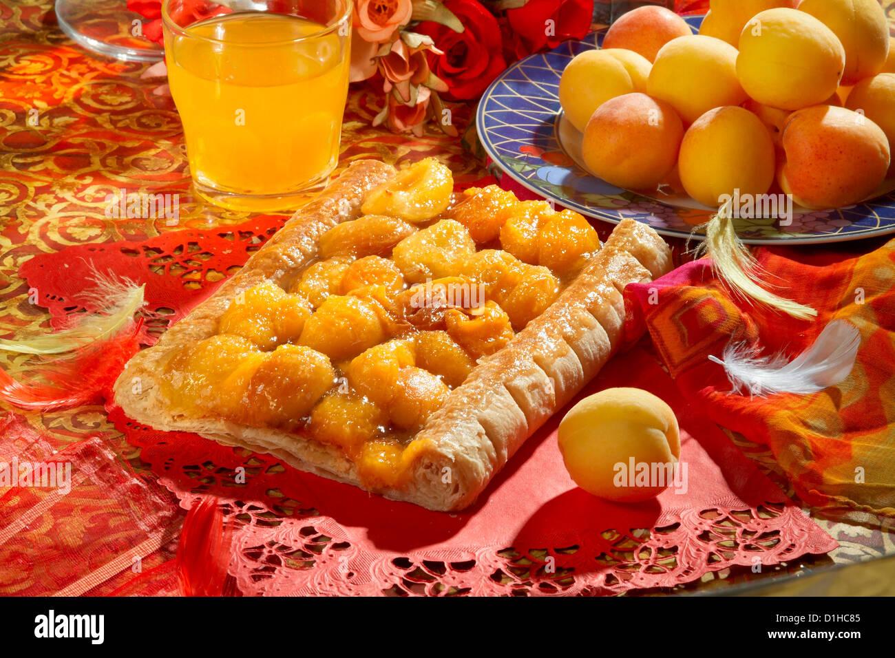 Apricot cake - Stock Image